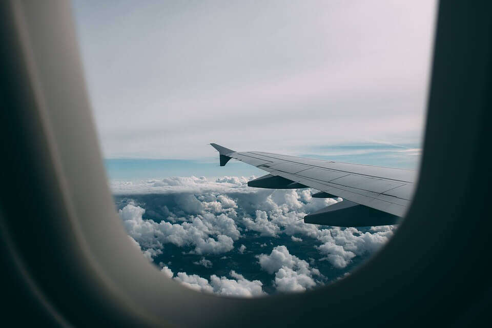 view from flight window
