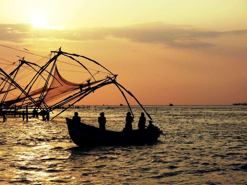 Chinese fishing net in Kochi