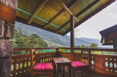 forest view homestay in manali