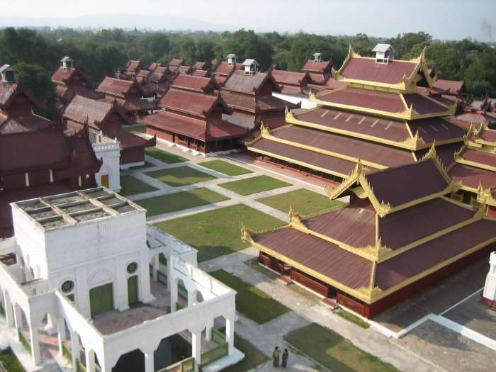 Mandalay palace view from above