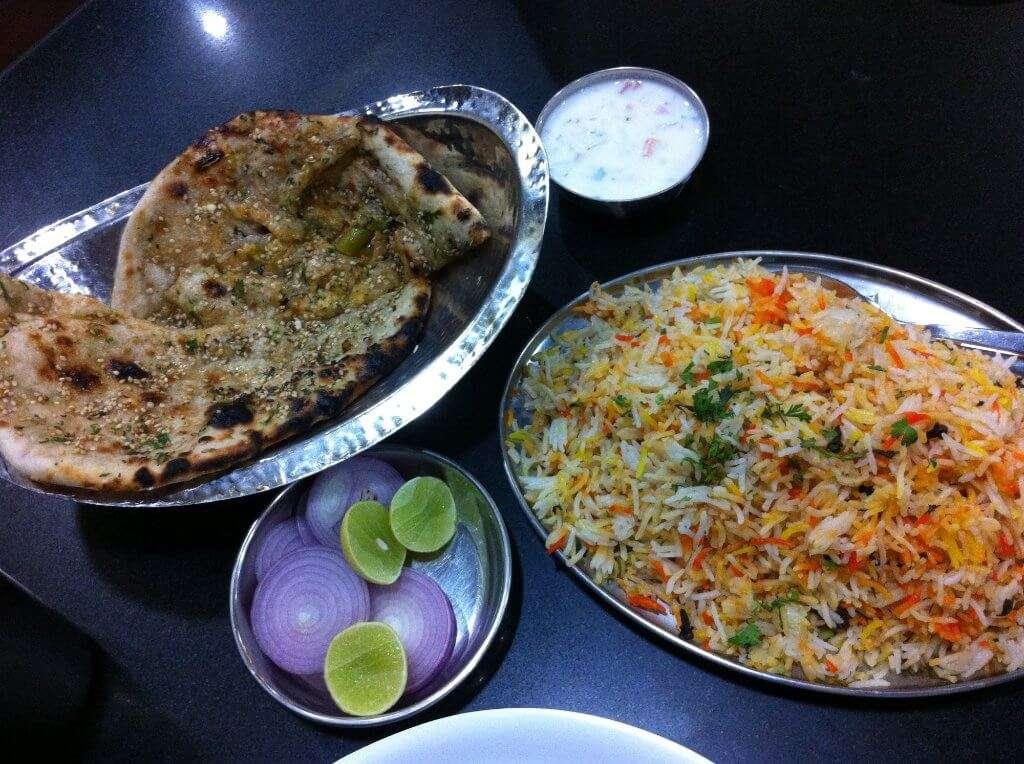 veg food in a restaurant