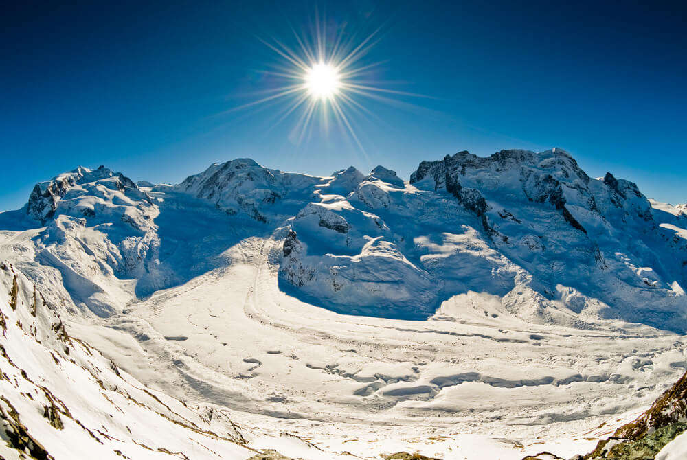 Monte Rosa covered in snow