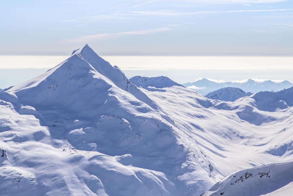snow covered Dom peak