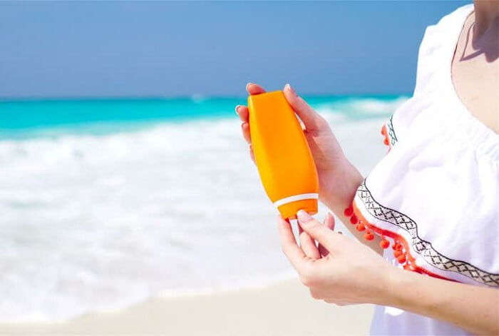 sunscreen on a beach
