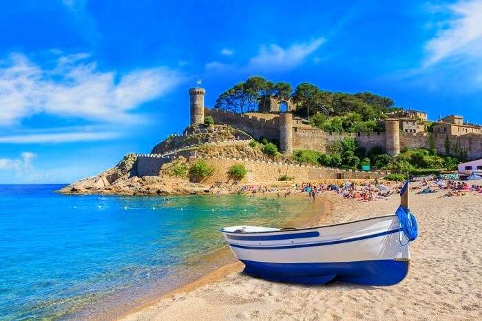 tossa de mar castle in spain
