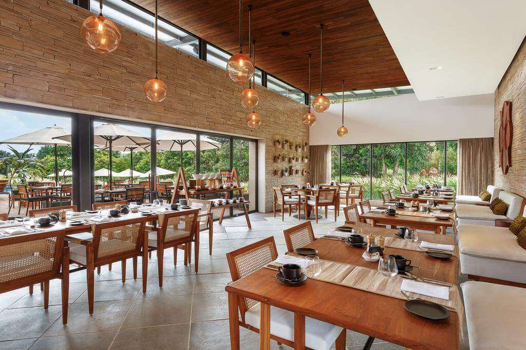 an open air restaurant at woods at Sasan