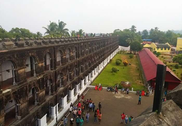 Aerial view of Cellular jail