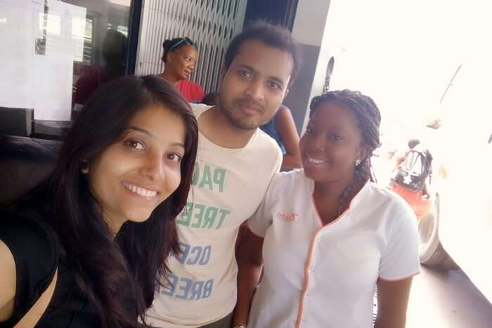 tushar seychelles honeymoon trip: meeting friends in seychelles