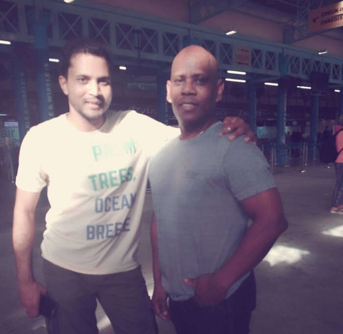 tushar seychelles honeymoon trip: meeting friend