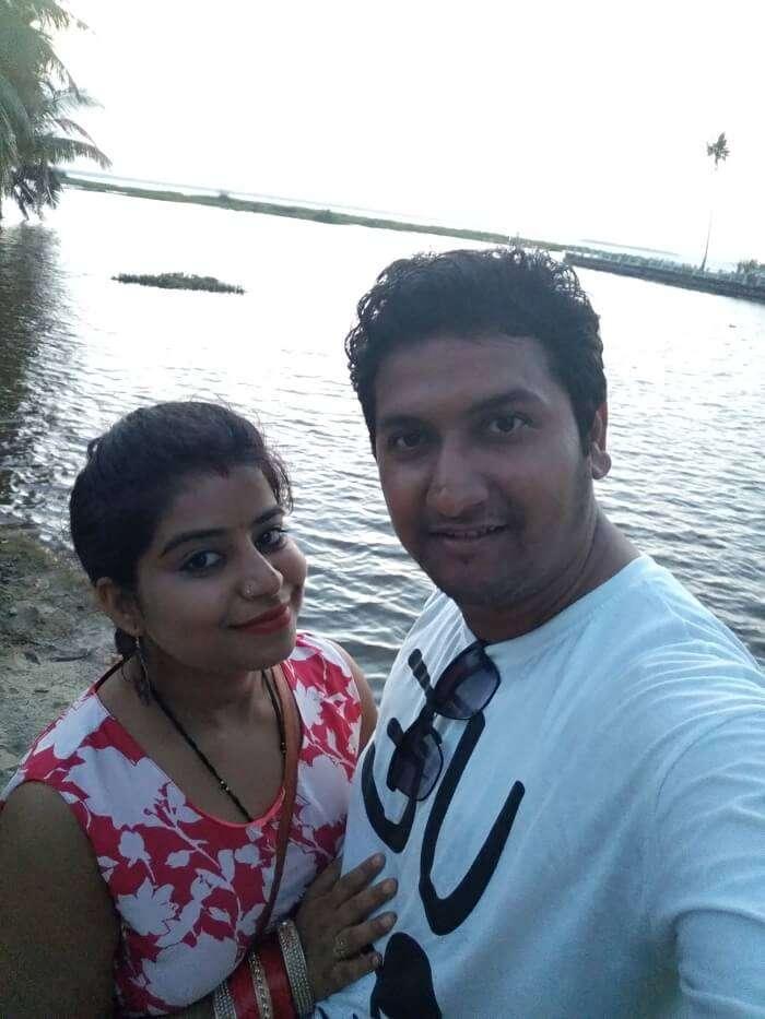 Couple on a romantic honeymoon