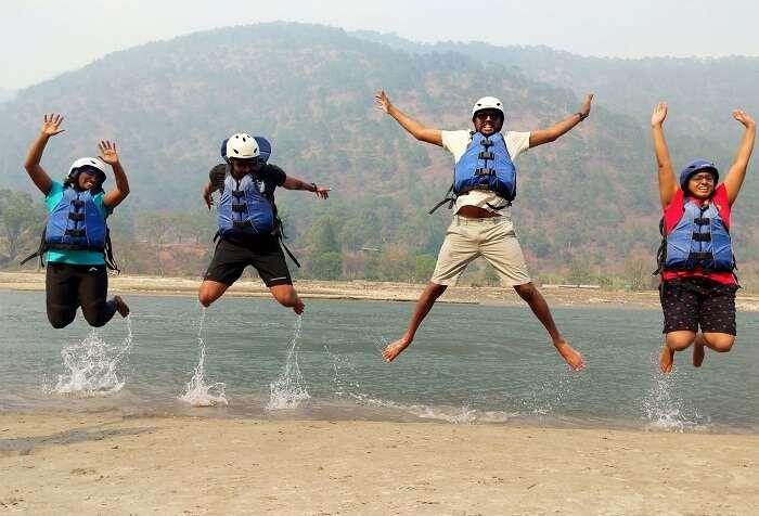 River rafting in Punakha