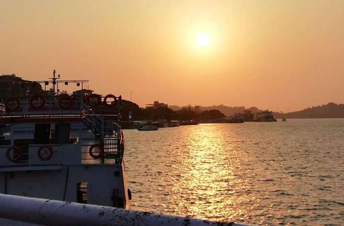 Sunset cruise in Goa
