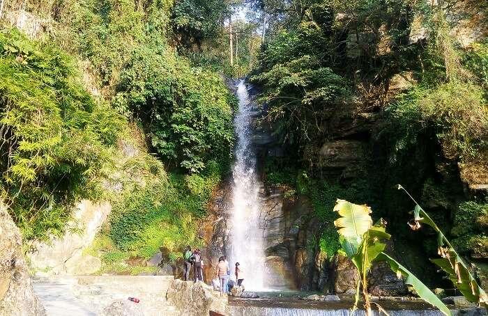 Take a dip at Bakthang Waterfall in Sikkim