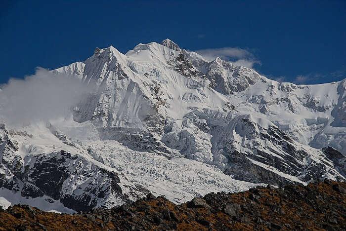 Kanchenjunga Mountain from Samiti Lake