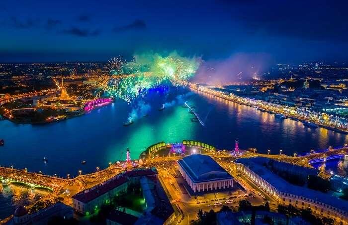 White nights festival, Saint Petersburg