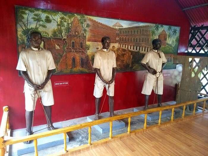 Statues at Cellular Jail