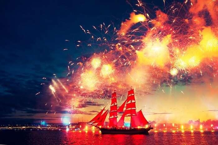 Scarlet Sails, White nights festival, Saint Petersburg