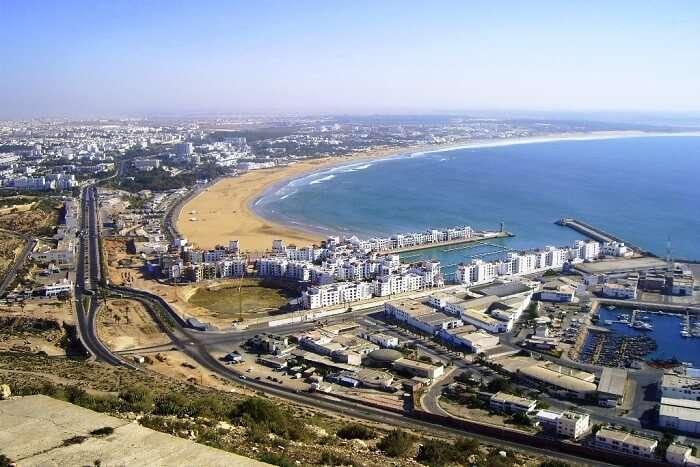 Agadir Beach in Morocco
