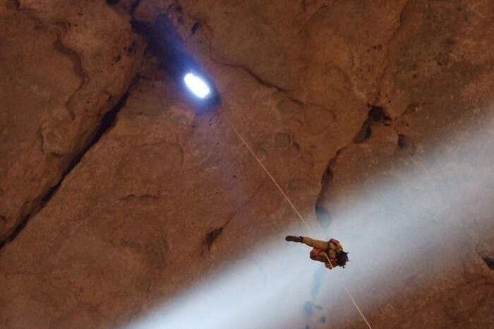 Trekker at Majis Al Jinn