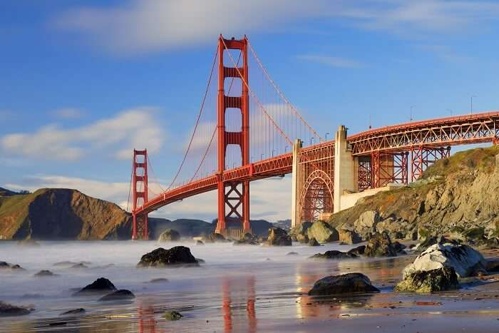 Golden Gate Bridge as seen from Baker Beach