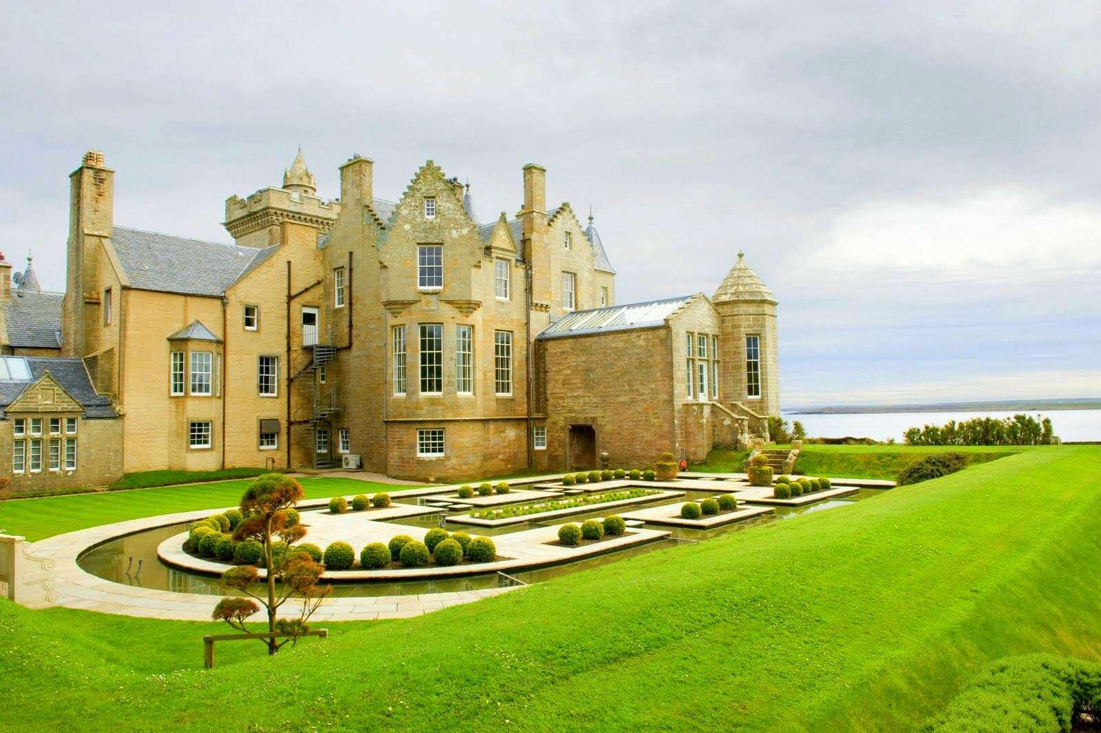 the gorgeous view of Balfour Castle