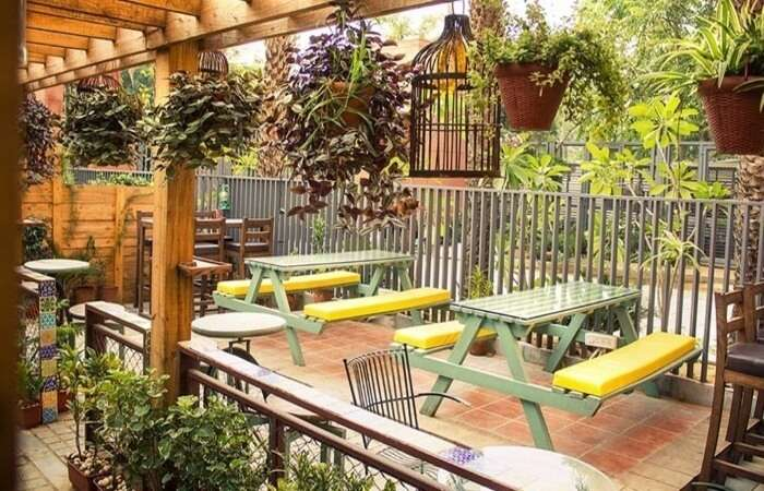 Beautiful outside seating