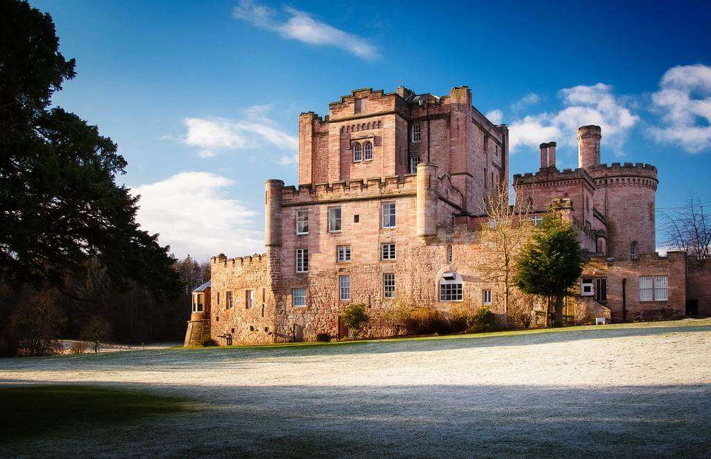 Dalhousie Castle from outside