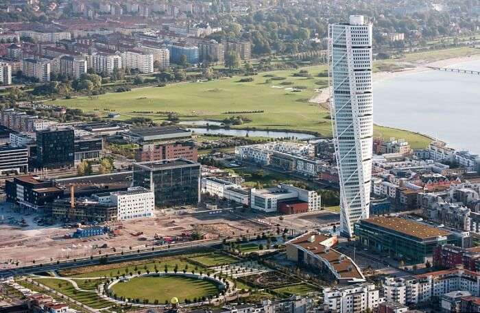 gorgeous city views from Turning Torso