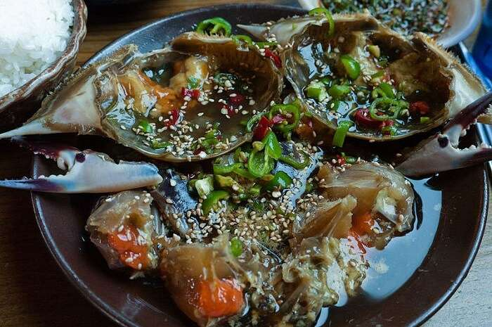 Soy sauce crab