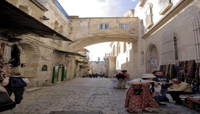 Go for a walk on the Via Dolorosa