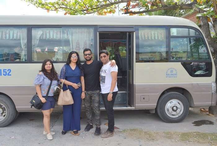 pallavi vietnam family trip: near cab