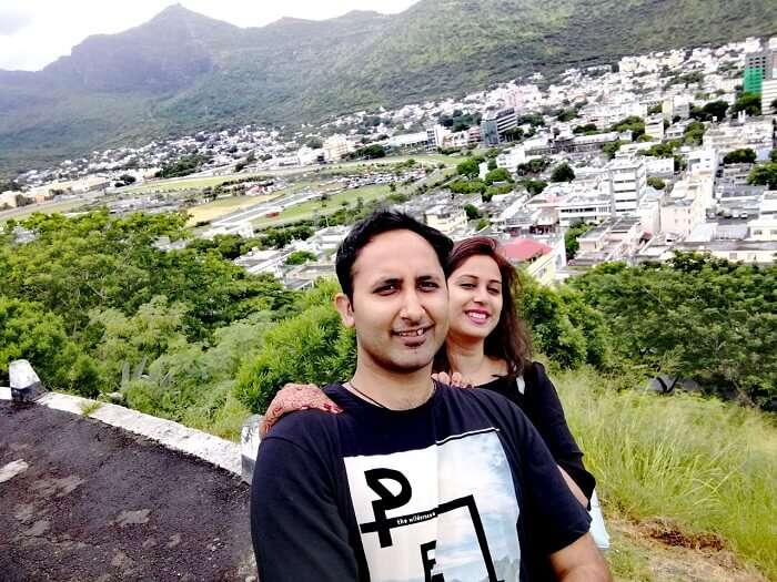 mayank and his wife in mauritius north island