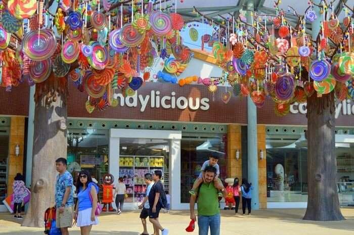 anshu singapore trip: sentosa island candylicious