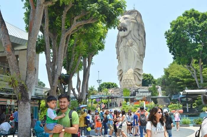 anshu singapore trip: sentosa island