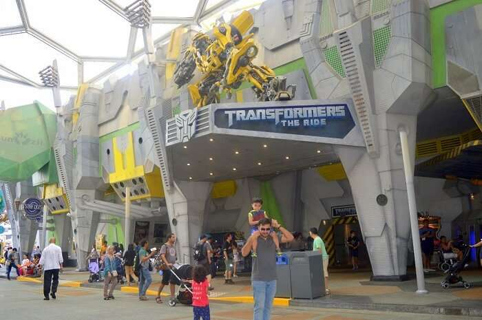 anshu singapore trip: sushant and son at transformers zone