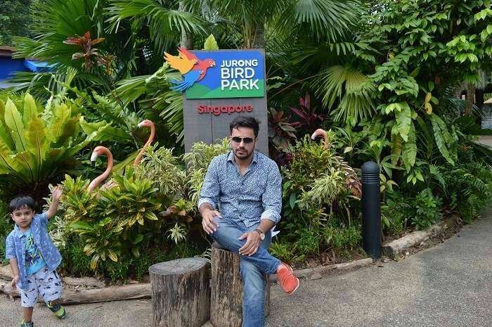 anshu singapore trip: in jurong bird park
