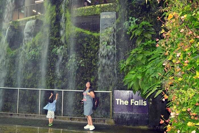 anshu singapore trip: near waterfall