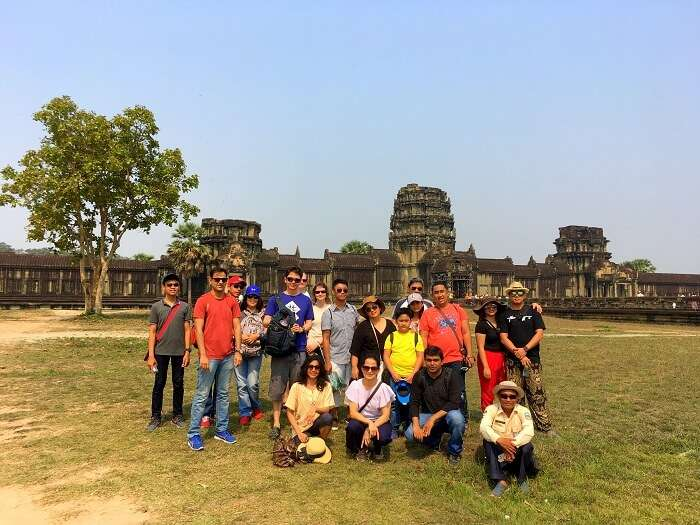 visited to the angkor temple