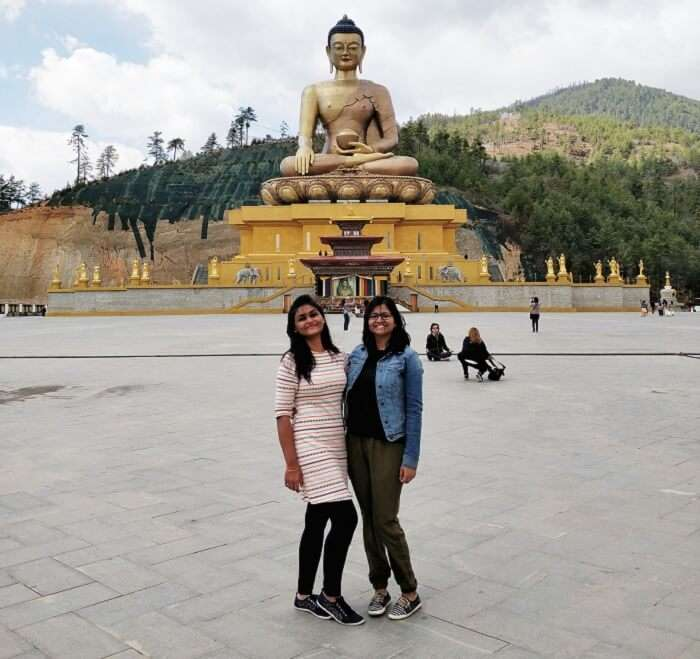 huge buddha statue in thimphu