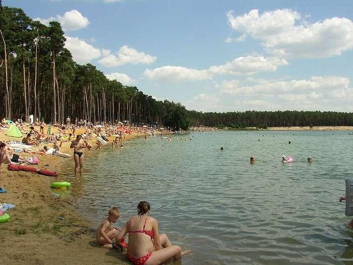 one of the best beaches near Prague