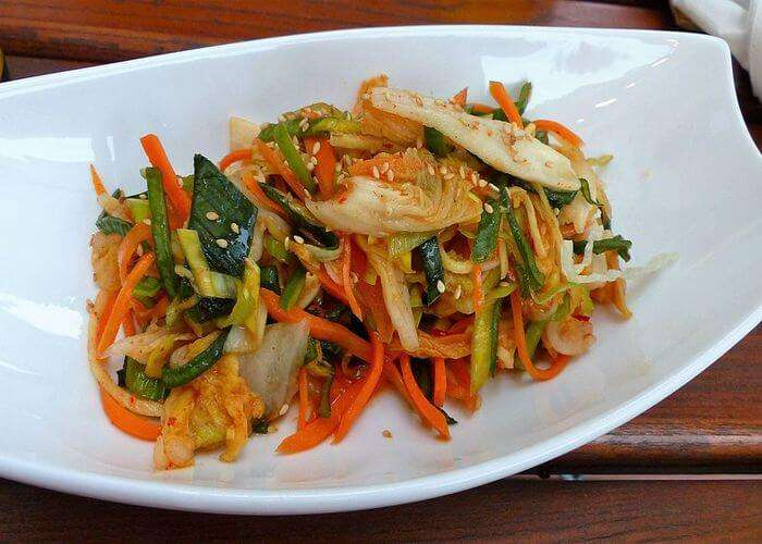 Spicy Fermented vegetable salad