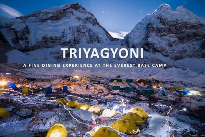 Project Triyagyoni dine at mt everest base camp