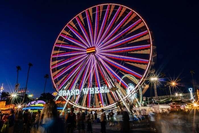 Ride the Ferris wheel at Santa Monica Pier in los angeles
