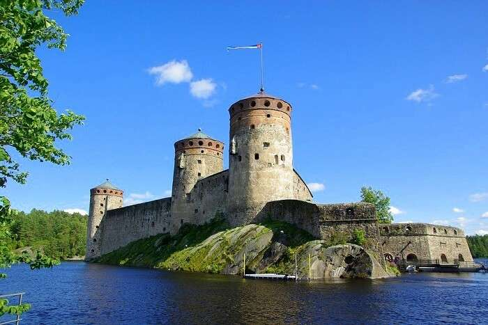 Savonlinna Finland Castle Lake Fortress finland