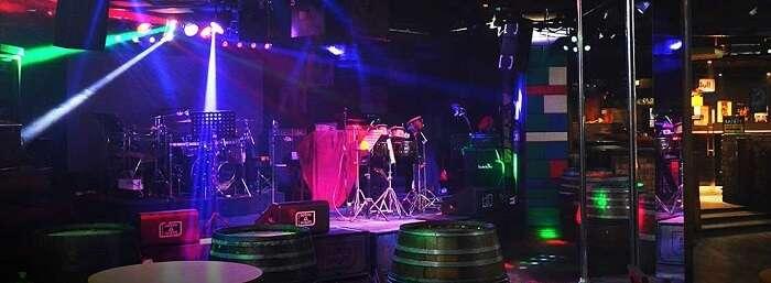 Stage view inside Strumms
