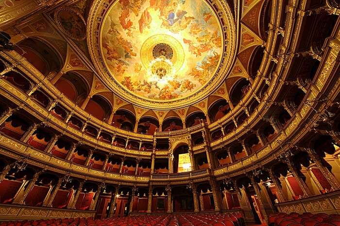 Watch a show at the Hungarian State Opera House in budapest Hungary