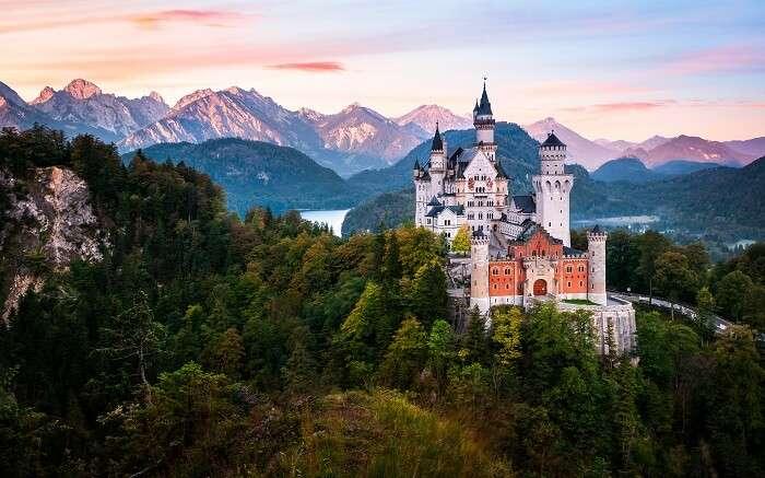 A beautiful view of Neuschwanstein Castle