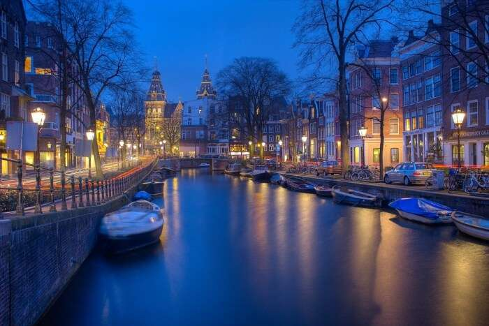 Amsterdam Canal during evening