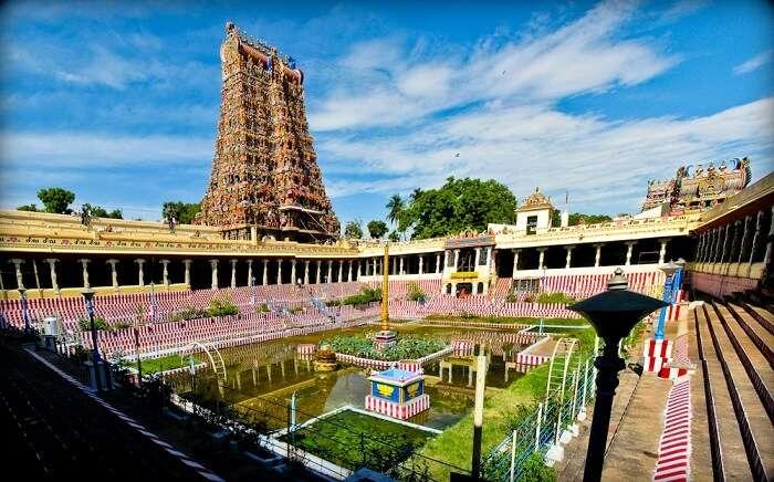 beautiful view of meenakshi temple