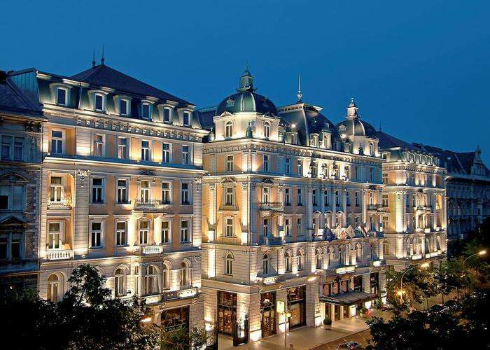 Palace like architecture of corinthia hotel